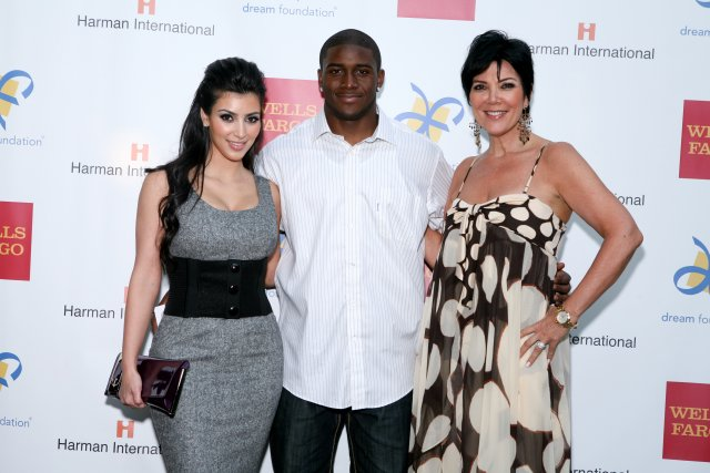 Kim Kardashian, Reggie Bush and Kris Jenner
